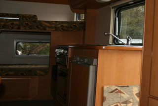 Interior view of Northumbria motor home